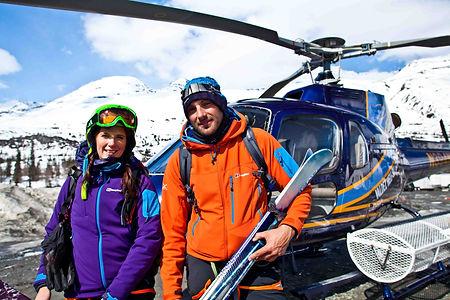 Heli skiing Valdez Alaska