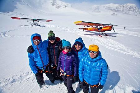 Ski Plane drops us at basecamp Mount Bear