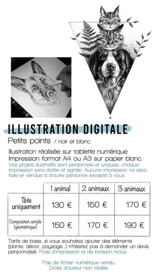 Illustration Digitale Dot Noir et Blanc