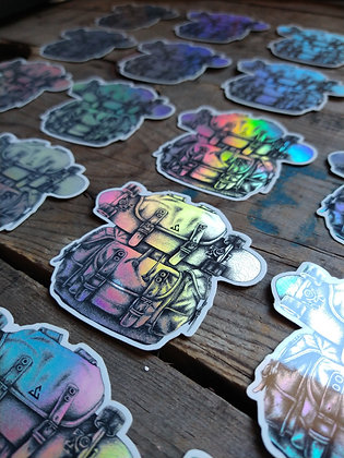 Stickers Backpacker Holographique