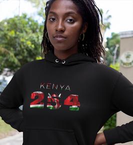 Kenya 254 Womens Pullover Hoodie