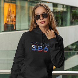 Slovenia 386 Womens Pullover Hoodie