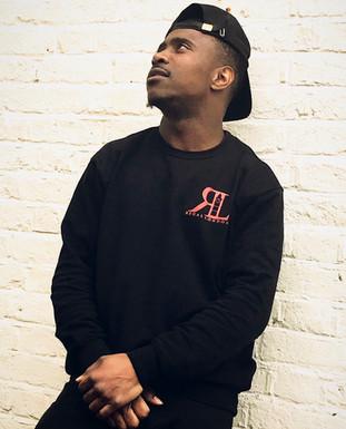 Regal London Red On Black Crew Neck Sweatshirt