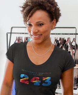 Democratic Republic of Congo 243 Women's T-Shirt
