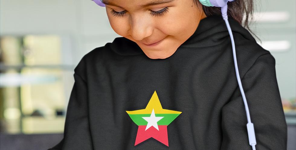 Myanmar Childrens Black Hoodie