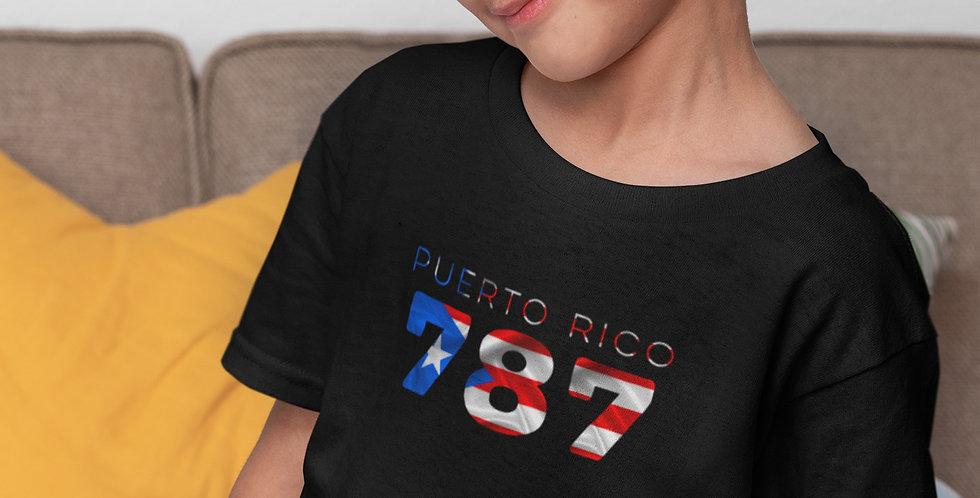 Childrens Puerto Rico Black T-Shirt