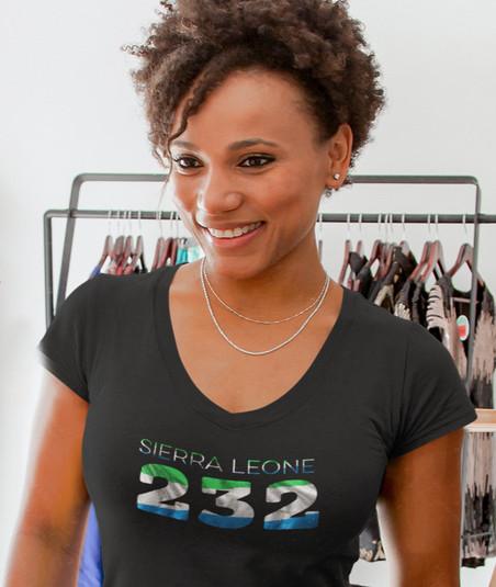 Sierra Leone 232 Womens T-Shirt