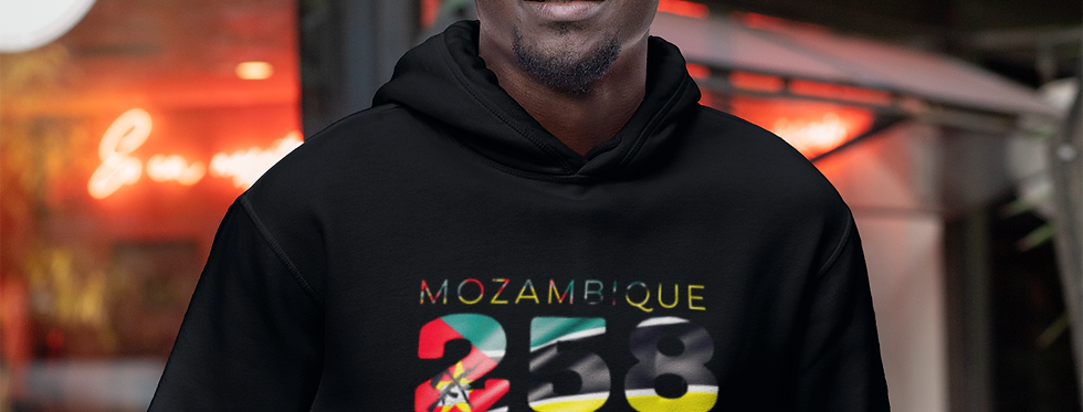 Mozambique Mens Black Hoodie