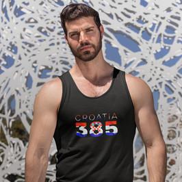 Croatia 385 Mens Tank Top
