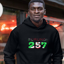 Burundi 257 Men's Pullover Hoodie