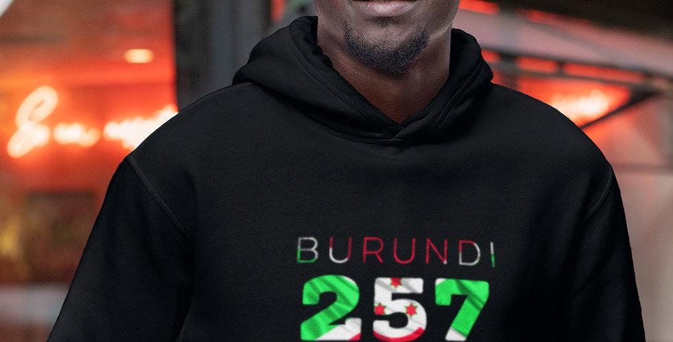 Burundi Mens Black Hoodie