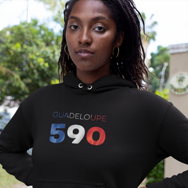 Guadeloupe 590 Womens Pullover Hoodie