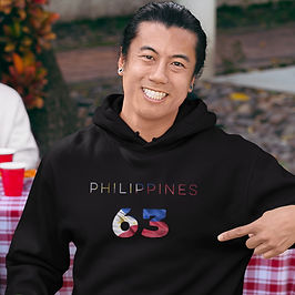 Philippines 63 Mens Pullover Hoodie