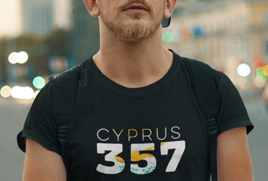 Cyprus Mens Black T-Shirt