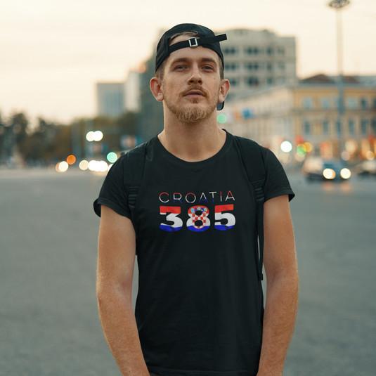 Croatia 385 Mens T-Shirt