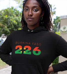 Burkina Faso 226 Womens Pullover Hoodie