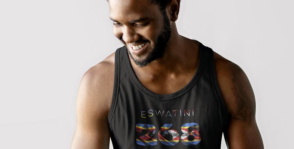Eswatini Mens Black Tank Top Vest