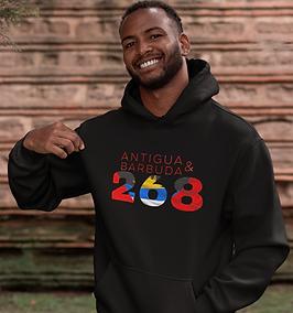 Antigua & Barbuda 268 Mens Pullover Hoodie
