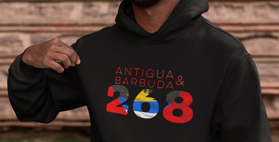 Antigua & Barbuda Mens Black Hoodie