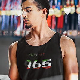 Kuwait 965 Mens Tank Top