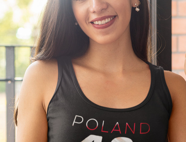 Poland Womens Black Vest
