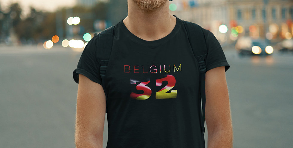 Belgium Mens Black T-Shirt
