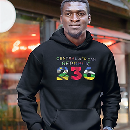 Central African Republic 236 Men's Pullover Hoodie