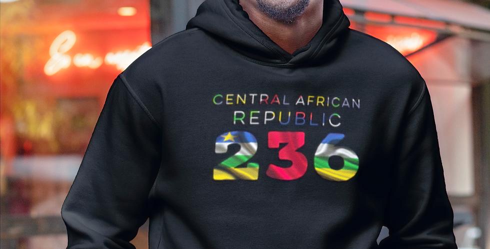 Central African Republic Mens Black Hoodie
