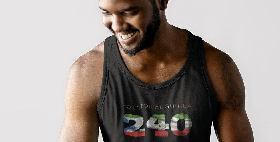 Equatorial Guinea Mens Black Tank Top Vest