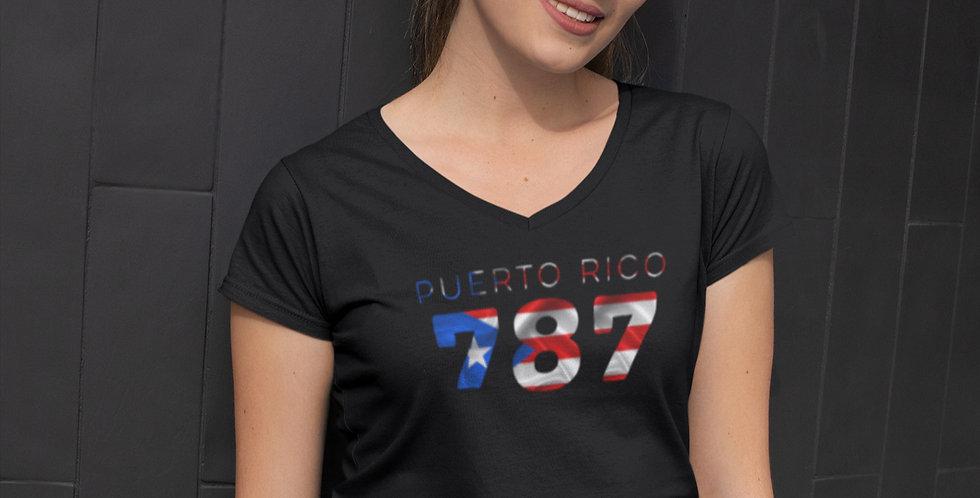 Puerto Rico Womens Black T-Shirt