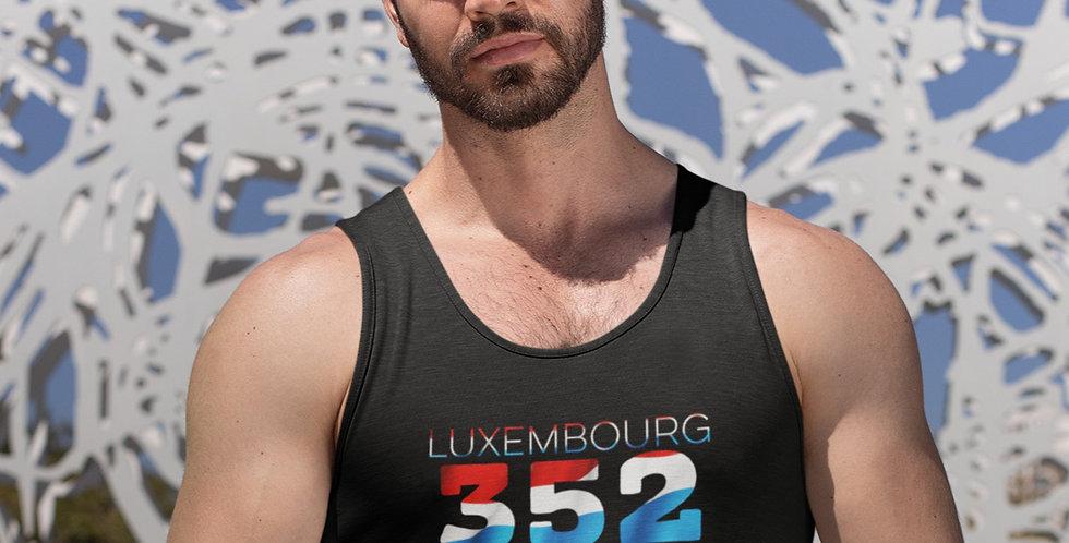 Luxembourg Mens Black Tank Top Vest