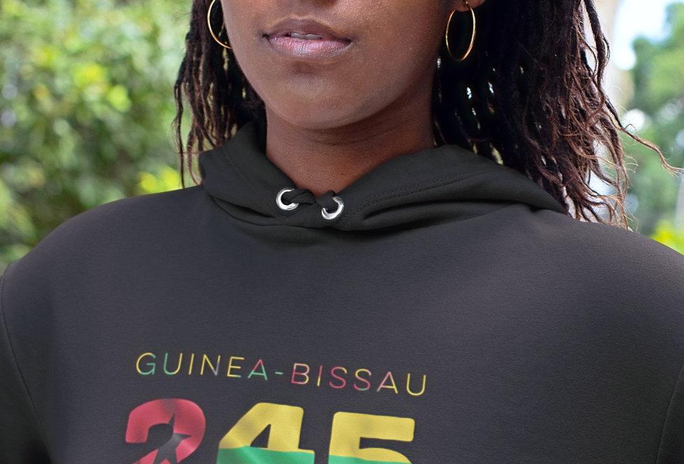 Guinea-Bissau Womens Black Hoodie
