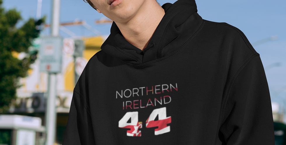 Northern Ireland Mens Black Hoodie