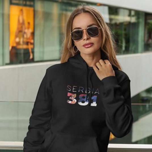 Serbia 381 Womens Pullover Hoodie