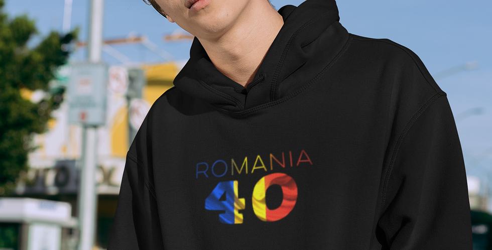 Romania Mens Black Hoodie