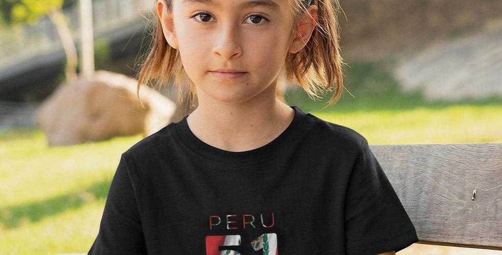 Childrens Peru Black T-Shirt
