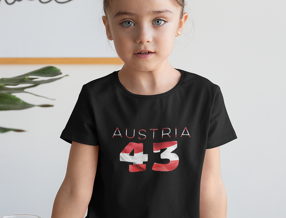 Austria Childrens Black T-Shirt