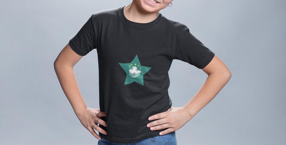 Childrens Macau Black T-Shirt