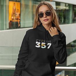 Cyprus 357 Womens Pullover Hoodie