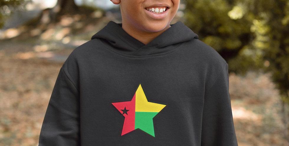 Guinea-Bissau Childrens Black Hoodie