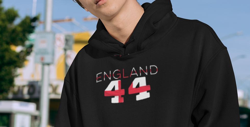 England Mens Black Hoodie