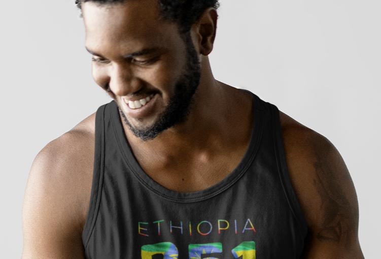 Ethiopia Mens Tank Top Vest