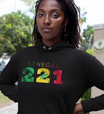Senegal 221 Womens Pullover Hoodie