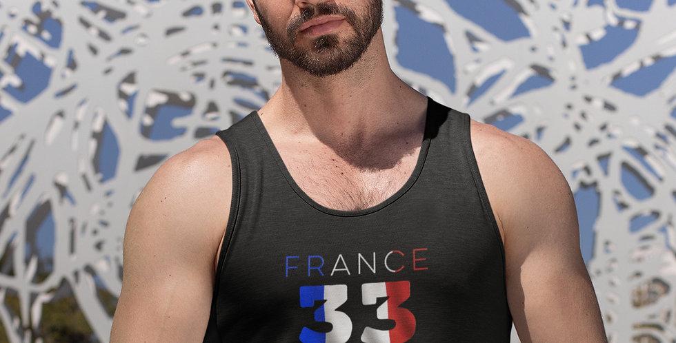 France Mens Black Tank Top Vest
