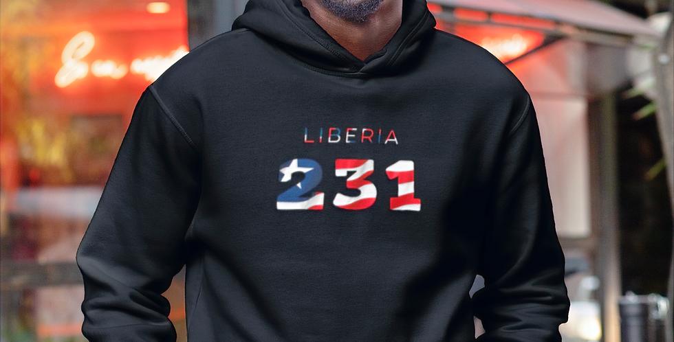 Liberia Mens Black Hoodie