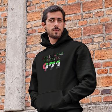United Arab Emirates 971 Mens Pullover Hoodie