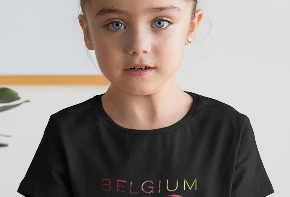 Childrens Belgium Black T-Shirt