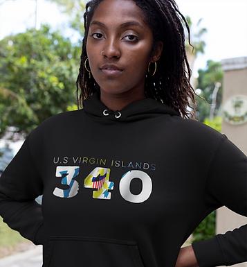 U.S Virgin Islands 340 Women's Pullover Hoodie