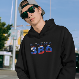 Slovenia 386 Mens Pullover Hoodie