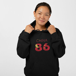 China 86 Womens Pullover Hoodie